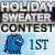 1st place in Holiday Sweater Contest