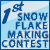 1st place in snowflake making contest