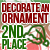 2nd Place Decorate an Ornament 2018