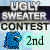 2nd place in Ugly Sweater Contest