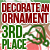 3rd Place Decorate an Ornament 2018