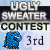 3rd place in Ugly Sweater Contest