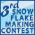 3rd place in snowflake making contest