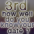 3rd in How well you know your date