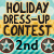 2nd place in Holiday Dress Up Contest