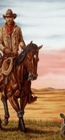 cowboy horse bg
