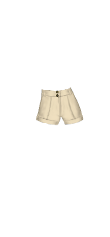 shorts cream