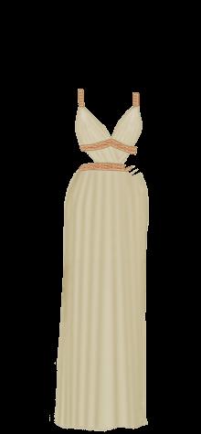 Greek dress beige