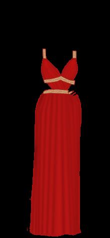 Greek dress red
