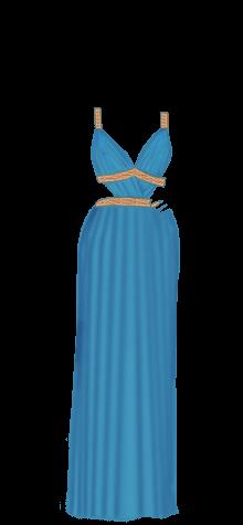 Greek dress blue