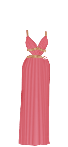 Greek dress pink