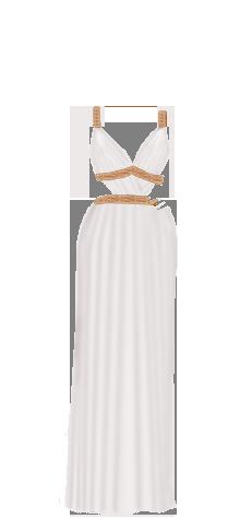 Greek dress white