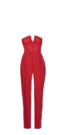 INDI jumpsuit red